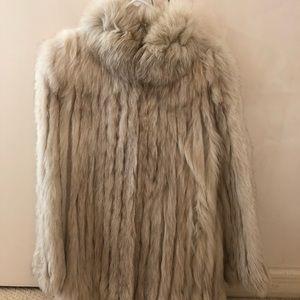 Vintage off-white fur coat
